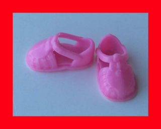 BARBIE KELLY & FRIENDS DOLL CLOTHING ACCESSORIES PINK SANDALS DRESS