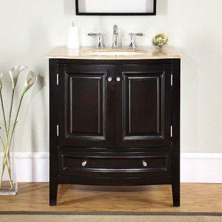 Newly listed 32 Bathroom Furniture Single Sink Bath Vanity Travertine