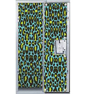 Blue Cheetah Animal Print Locker Decor Wallpaper
