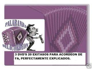 GABBANELLI O HOHNER FBE/FA CANCIONES EN FA 3 DVDS SUPER EXITOS, FREE