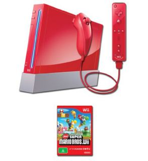 Nintendo Wii New Super Mario Bros. Pack Red Console (NTSC)