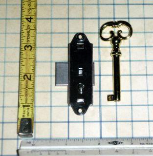 Vtg old Barrel Skeleton Key And brass Lock Furniture Cabinet Box Desk