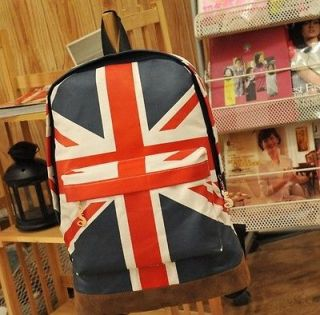 Games UK Flag Union Jack Style Backpack Bag Women Boy Student Men