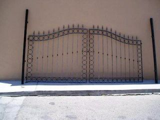 Newly listed Two Sided Driveway Gate, Circle Pattern, Wrought Iron