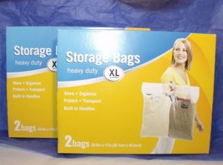THICK CLEAR PLASTIC STORAGE BAG LOT Protective Waterproof Clothing
