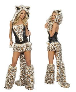 Furry Fancy Dress Cat Wolf Fox Halloween Game Costume Cosplay Outfit