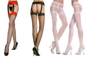 Style Suspender Pantyhose Garter belt Lace Fishnet Sheer Stockings