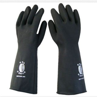 Liquid Proof Industrial Heavy Duty Long Gauntlets Rubber Latex Gloves