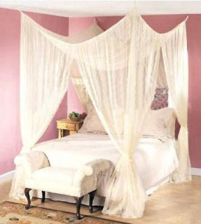 DREAMMA 4 CORNER BED CANOPY MOSQUITO NET INSECT MESH