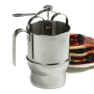 Norpro 18/10 Stainless Steel Jumbo Batter Dispenser With holder 4 Cup
