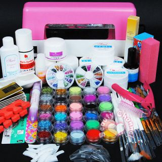 dryer lamp 30 color Acrylic Powder Nail Art Kit gel tools tips 305