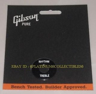 Gibson Switch Ring Toggle Washer Black /Wht Guitar Parts Les Paul SG