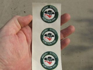 SKOAL BANDIT HEAD PUFFY DECAL(3)
