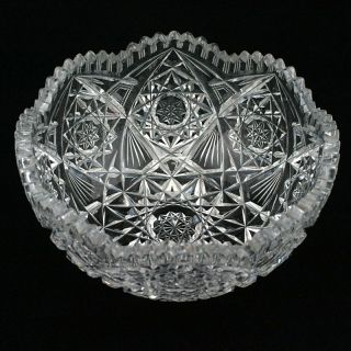 antique cut glass bowls in American Brilliant