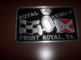 car club plaque Royal Rebels hot rat rod plate