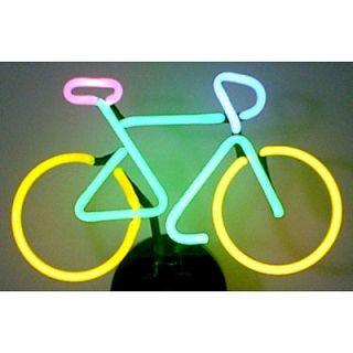 sign art Bicycle glass sculpture lamp shelf wall light Bike Cycling