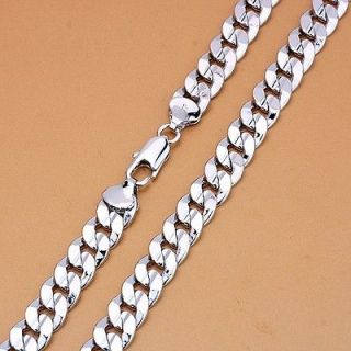mens white gold necklace in Mens Jewelry