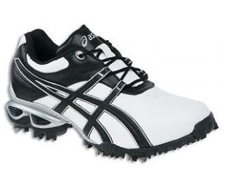 Asics Gel Linksmaster White/Black/Si​lver Mens Golf Shoes