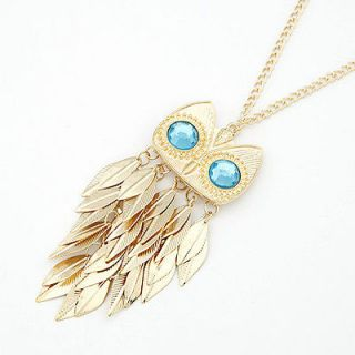 owl necklace gold in Necklaces & Pendants