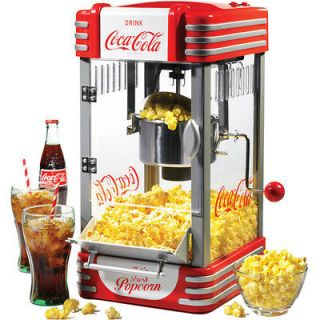 Coca Cola Popcorn Machine w/ Stainless Steel Kettle Popper Home Retro