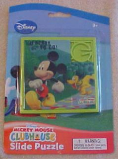 Disney Mickey Mouse Clubhouse Slide Puzzle, NEW