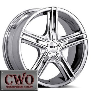 Chrome Ruff R933 Wheels Rims 4x100/4x114.3 4 Lug Civic Integra Accord