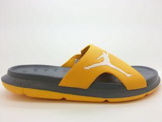 ] Mens Air Jordan RCVR Slide Gold Grey All Season Slippers SolarSoft