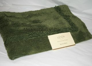 Bath Mat Solid Dark GREEN Forest Bamboo Cotton Rug Moss Landing