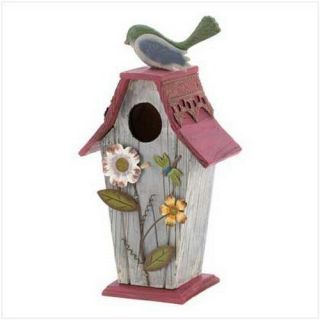 GARDEN COTTAGE BIRDHOUSE Wood Country Bird House NEW