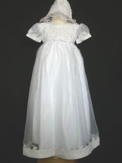 New Baby Girl & Toddler Christening Baptism Formal Dress Gown size 0M