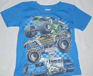 MONSTER JAM Grave Digger Maximum Destruction T Shirt ~ Blue ~ NWOT 2T