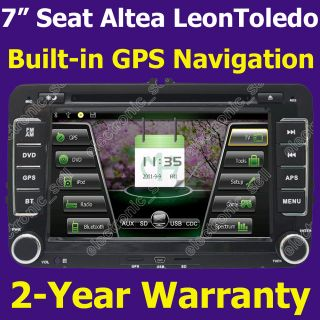Auto Radio  Car DVD Player GPS Navigation for Seat Altea Leon