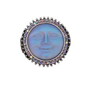 FOLLY SEAVIEW MOON DREAMSTONE STRETCH RING ST/BLUE SIZE AVERAGE