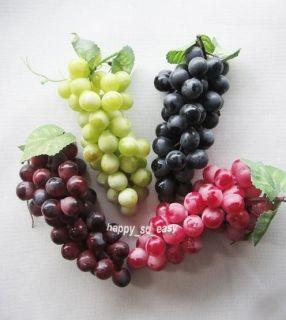1pcs Lifelike Artificial Grapes Cluster Home Garden Decor Fake Fruit