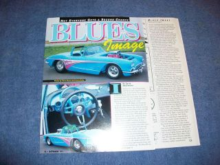Original 1961 Corvette Pro Street Article Blues Image