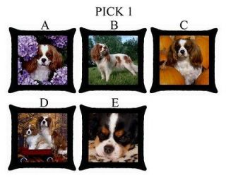 King Charles Spaniel Dog Puppy Puppies A E Throw Pillow Case #PICK 1