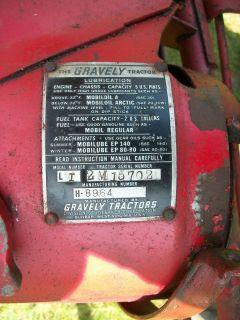 Gravely Walk Behind Power Unit, No Hood F/Parts or Repair, Missing
