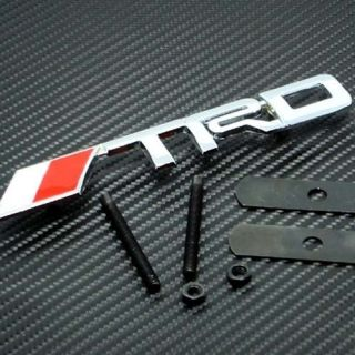 Front Grille Grill Emblem TUNING Aluminum Metal fit for Toyota TRD