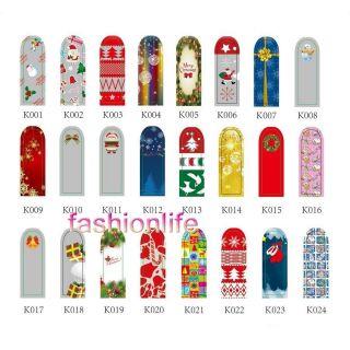 16pcs Nail Foil Christmas Nail Art Sticker Patch Nail Wraps for