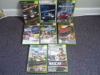 Newly listed 8 ~ RACING XBOX GAMES SPY HUNTER BURNOUT PROJECT GOTHAM