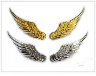 3D GOLD Metal Angel Wing decoration Badge Emble Chrome Car Auto