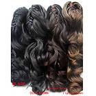 Long Wavy/Curly Ponytail Claw Pony Soft Hair Piece Extensions TOP