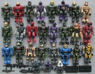 15PCS Mega Bloks Halo Reach Figure Master Elite Cheif Spartan Grunts