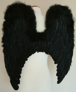 Large BLACK Feather Angel wing for kids of 10+ yrs or teen/adults BM3L