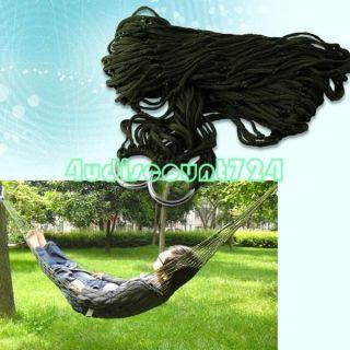 Nylon Mesh Rope Hammock Hang Sleeping Bed Outdoor Camping Travelling