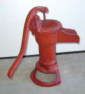 Vintage Hand Water Pump Wl Davey Pump Co. Primitive Red Country Farm