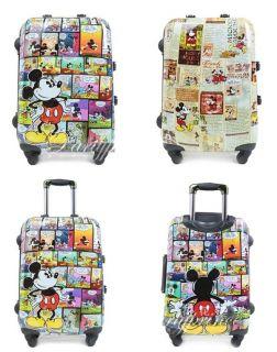 Disney Mickey Minnie Donald Duck Luggage Bag handbag Trolley Roller