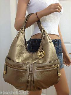Michael Kors Layton Large Shoulder Tote Bronze Leather Bag Handbag