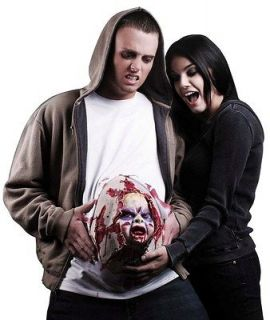 Scary Demon Monster Zombie Baby Pregnant Belly Accessory Adult