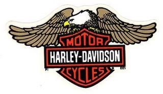 HARLEY DAVIDSON INSIDE WINDOW D21 FLYING EAGLE BAR & SHIELD DECAL